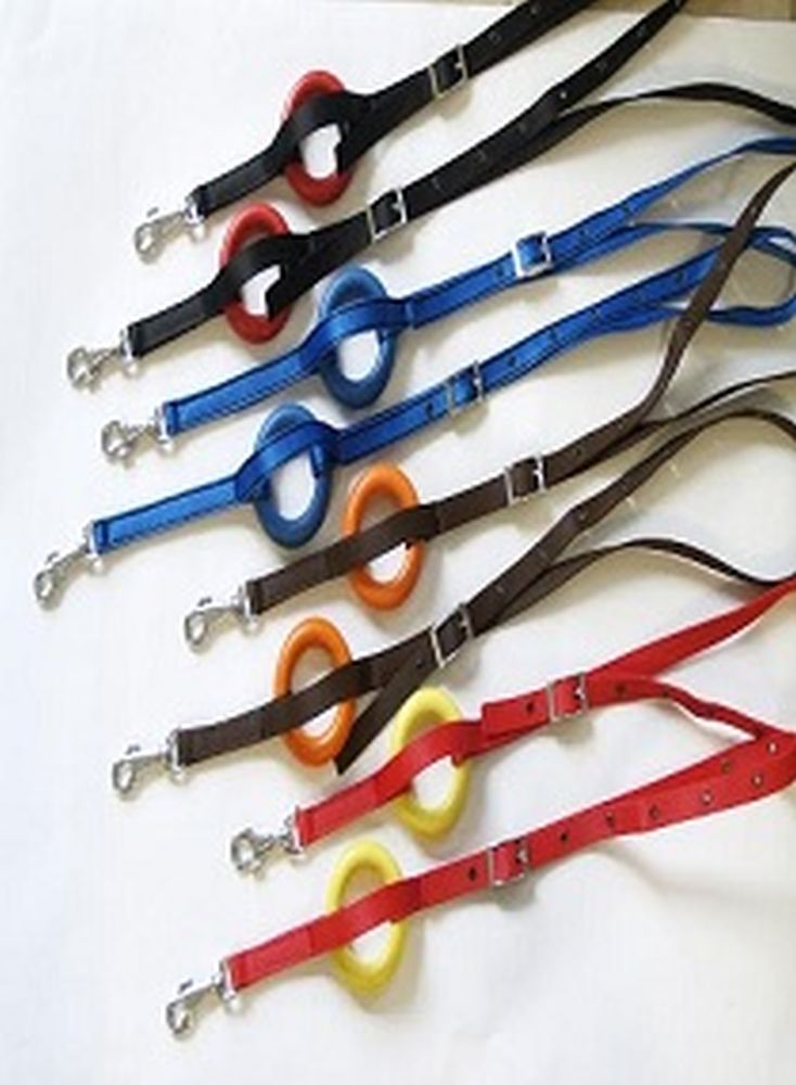 Side reins with rubber