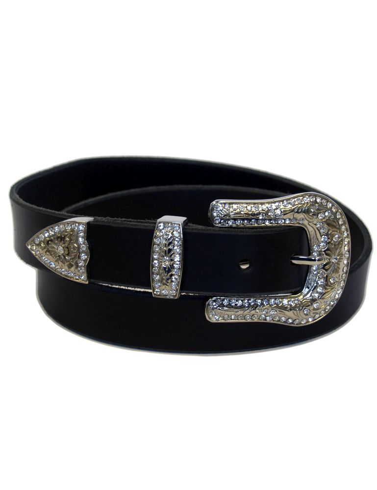 Leather decorative belt